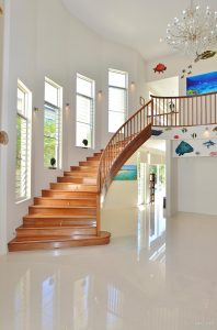 Curved staircase Phil Mahogany Mike Murry Agnus water