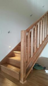 Phil Mahogany staircase anti - slip treads Osborne constructions Yeppoon