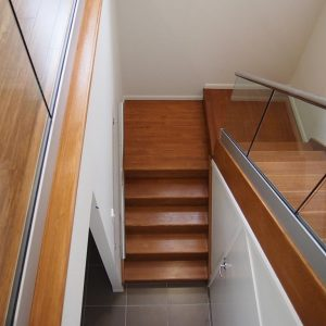 Phil mahogany Staircase Glass Balustrade Chris Bell Gladstone