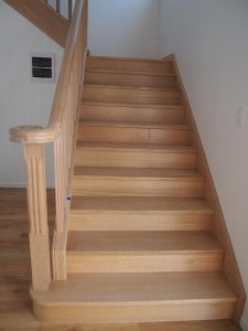 Tassie oak Bullnose tread with Curtail Chris Bell Gladstone
