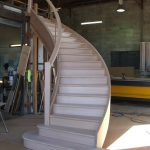 curved staircase Tassie oak factory