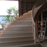 curved staircase factory phil mahogany round post rail and balusters