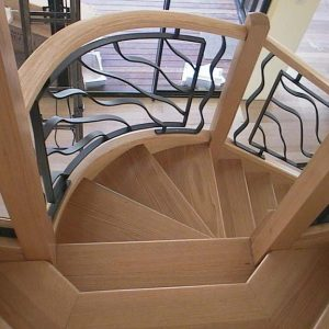 curved wrought iron Tassie oak
