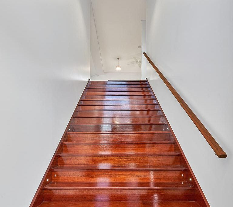 kwila wide entry staircase Greenwood Constructions cairns